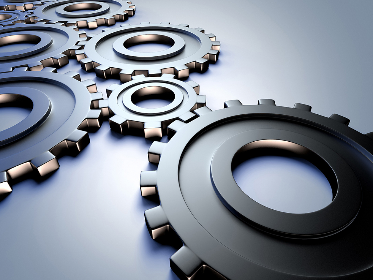 cogwheels representing industry and engineering concepts